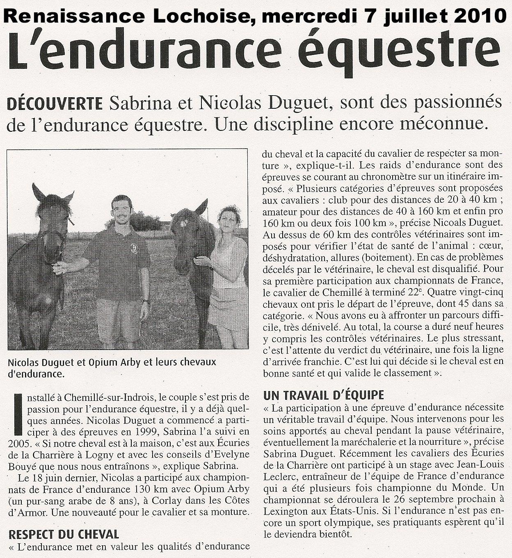 News page 3 depuis le 28 mai 2010 for Renaissance lochoise